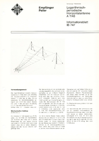 Технический паспорт Telefunken A 1148