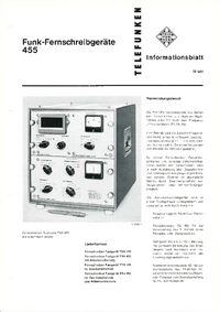 Hoja de datos Telefunken TTA 455