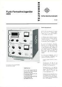 Datasheet Telefunken TTG 455