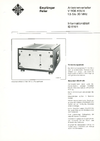 Технический паспорт Telefunken V1106 KW/4