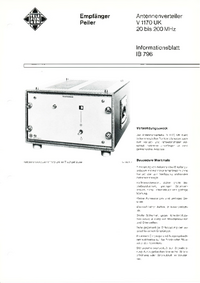 Telefunken-6100-Manual-Page-1-Picture