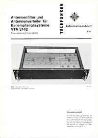 Dane techniczne Telefunken VTA 3142