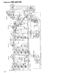 Schéma cirquit Telefunken 645