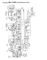 Cirquit diagramu Telefunken Ela A 1135