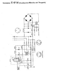 Cirquit Diagramma Telefunken U 47 M