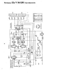 Cirquit Diagrama Telefunken Ela V10 1065