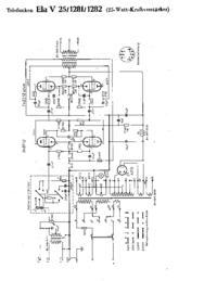 Cirquit diagramu Telefunken Ela V25 1281