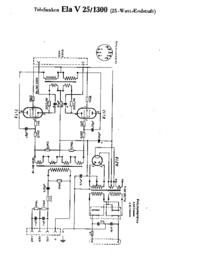 Cirquit Diagramma Telefunken Ela V25 1300