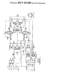 Cirquit diagramu Telefunken Ela V25 1300