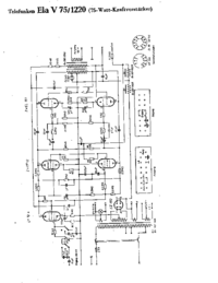 Cirquit Diagram Telefunken Ela V75 1220