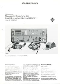 Fiche technique Telefunken S 2525 /1