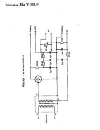 Cirquit Diagramma Telefunken Ela V101/1