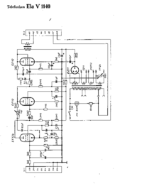 Diagrama cirquit Telefunken Ela V1140