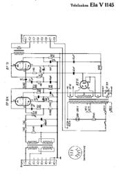 Схема Cirquit Telefunken Ela V1145
