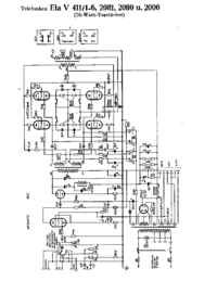 Схема Cirquit Telefunken Ela V411/2