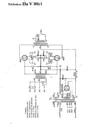 Schaltplan Telefunken Ela V301/1