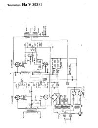 Diagrama cirquit Telefunken Ela V303/1