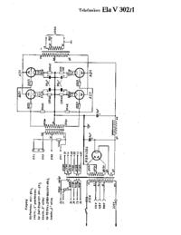 Schaltplan Telefunken Ela V302/1