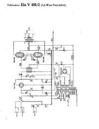 Cirquit Diagrama Telefunken Ela V401/2