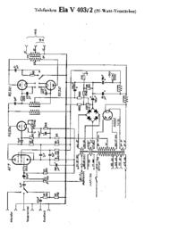 Schéma cirquit Telefunken Ela V403/2