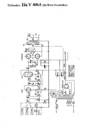 Схема Cirquit Telefunken Ela V406/1