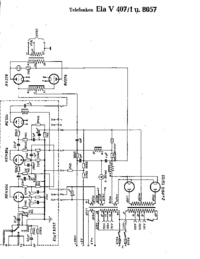 Cirquit Diagram Telefunken Ela V407/1