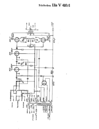 Schaltplan Telefunken Ela V410/1