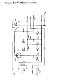 Diagrama cirquit Telefunken Ela V5021