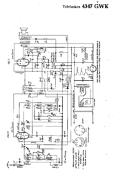 Cirquit Diagram Telefunken 4347 GWK