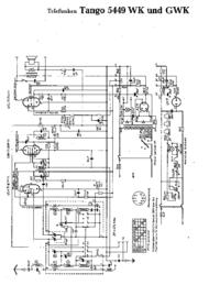 Cirquit Diagramma Telefunken Tango 5449 GWK