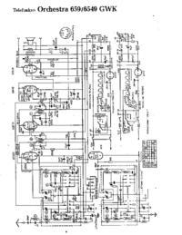 Cirquit Diagram Telefunken Orchestra 659 GWK