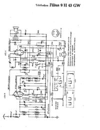 Cirquit diagramu Telefunken Filius 9 H 43 GW