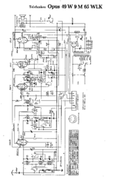 Cirquit Diagram Telefunken Opus 49 W