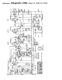 Cirquit Diagramma Telefunken Allegretto LMK