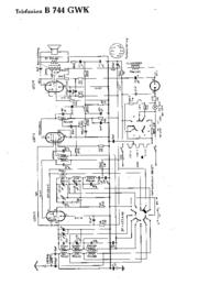 Cirquit Diagrama Telefunken B 744 GWK