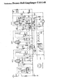 Diagrama cirquit Telefunken Presse Hell Empfänger E 11 1 48