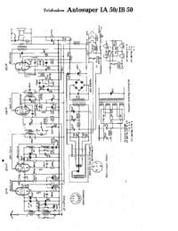 Cirquit Diagram Telefunken Autosuper IA 50