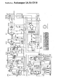 Cirquit Diagram Telefunken Autosuper ID 51