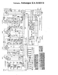 Схема Cirquit Telefunken Autosuper IID 51