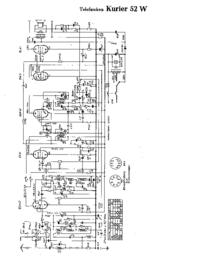 Cirquit Diagram Telefunken Kurier 52 W
