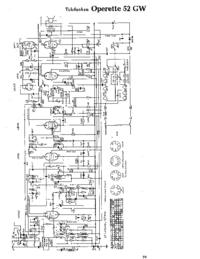 Cirquit Diagrama Telefunken Operette 52 GW