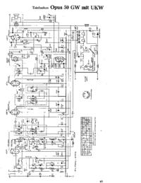 Схема Cirquit Telefunken Opus 50 GW