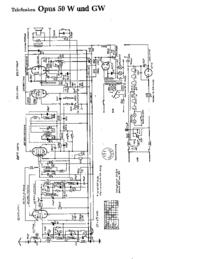 Cirquit Diagram Telefunken Opus 50 W
