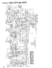 Cirquit Diagramma Telefunken Opus 50 W UKW