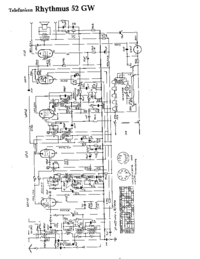 Schaltplan Telefunken Rhythmus 52 GW