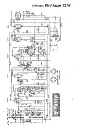 Schaltplan Telefunken Rhythmus 52 W
