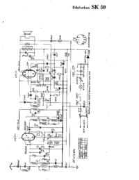 Schéma cirquit Telefunken SK 50