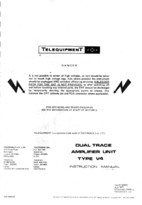 Service and User Manual Telequipment V4