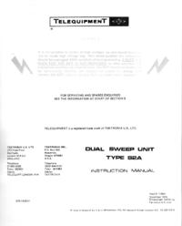 manuel de réparation Telequipment S2A