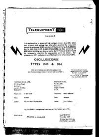 Serwis i User Manual Telequipment D65